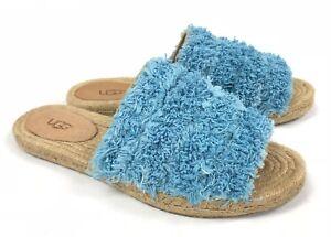 2766c863fc9 Details about Ugg Australia Edith Slide Yarn Fringe Aqua Blue 1090849  Slides Shoes Sandals