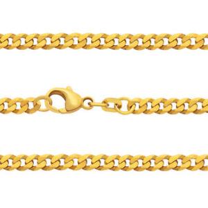 Juwelier Weit Panzer Kette Stärke 3,2 mm Echt Gold 333 Männer Länge 50 55 60 cm