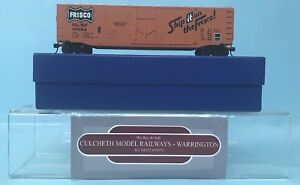 KIT-BUILT-039-HO-039-GAUGE-SLSF-15034-039-FRISCO-039-54-039-BOX-CAR-WAGON-BOXED-GC1-4