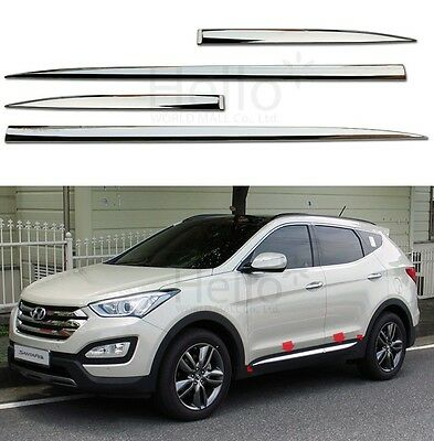 Genuine Chrome Door Garnish Molding 4p For 2013 - 2018 HYUNDAI Santa Fe SPORT