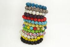 wholesale lots 10pcs Rhinestone crystal disco ball beads stretch bracelets FREE