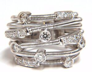 1-10ct-Quilates-Natural-Diamantes-Multi-Anillo-Cruzado-18kt-Espiral-Envolvente