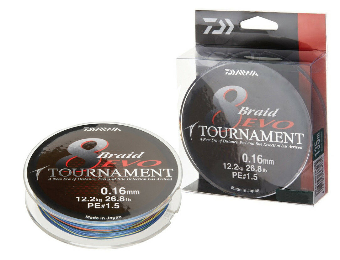 Daiwa Tournament 8 8 8 Braid Evo 150m 0,10-0,16mm / Multi Farbe/ Geflochtene Schnüre f16d2f