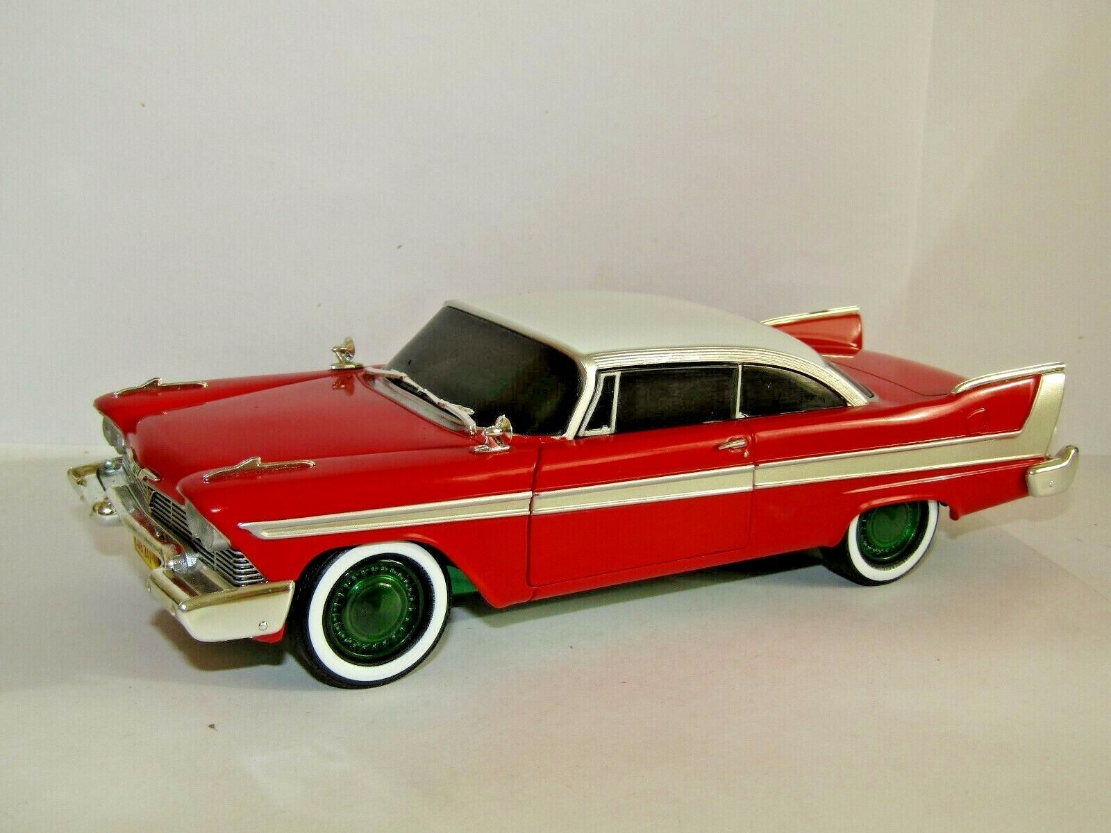 vertlight 1958 Plymouth Fury Christine Evil 1 24 84082 Chase Voiture vert roues