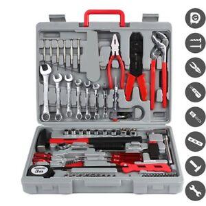 Werkzeugset-555-tlg-Knarrenkasten-Steckschluessel-Ratschenkasten-Werkzeugkoffer
