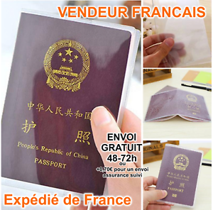Protege-document-etui-pochette-de-protection-passeport-Francais-voyage-Travel