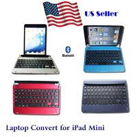 Slim Bluetooth Wireless Keyboard Case Laptop Convert Cover For Apple Ipad Mini