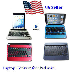 slim bluetooth wireless keyboard case laptop convert cover for apple ipad mini. Black Bedroom Furniture Sets. Home Design Ideas