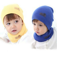 Children Kids Caps Earflaps Thickening Knitted Hats Baby Winter Warm Hat 4 Color