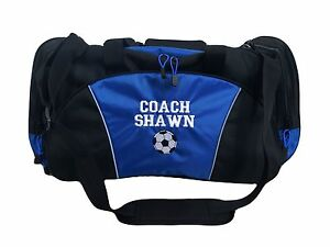 Image is loading Personalized-Duffel-Bag-Large-SOCCER-BALL-Sports-Team- a8b414ac1c844