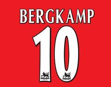 Bergkamp #10 Arsenal 1997-2006 Home EPL Football Nameset for shirt Gunners