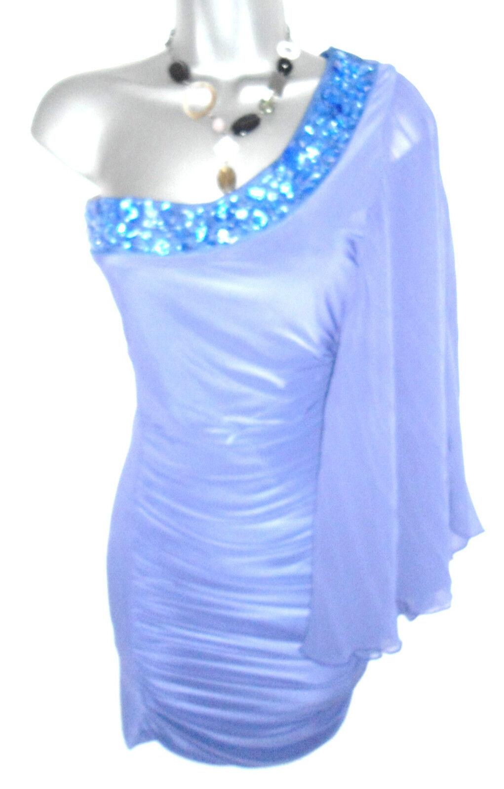 Stunning Jane Norman lila Jewel Embellished One Shoulder Evening Evening Evening Dress Größe 8   Verschiedene Stile und Stile    Gewinnen Sie hoch geschätzt    Exzellente Verarbeitung  6b3b4b
