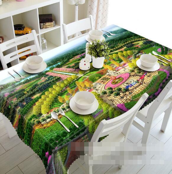 3D Cute Park 4 Tablecloth Table Cover Cloth Birthday Party Event AJ WALLPAPER AU