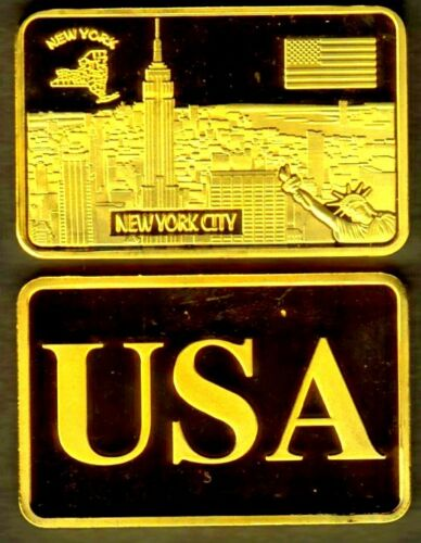 ♔♔♔ GOLD PLATED BAR NEW YORK ♔♔♔