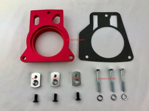 RED Throttle Body Spacer For Chevy Tahoe Avalanche 1500 2500 4.8L 5.3L 8.1LV8