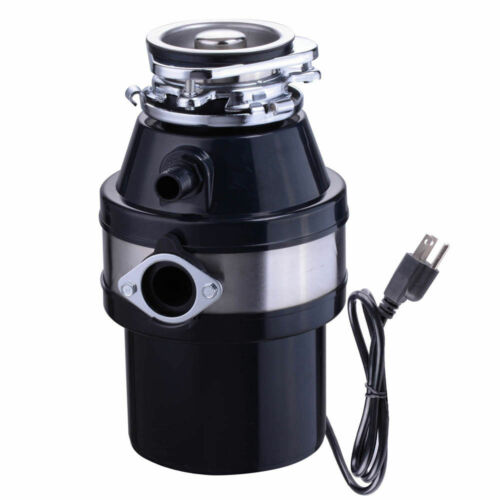 Garbage Disposal 1.0 HP Continuous Feed Home Kitchen Food Waste w// Plug 2600 RPM