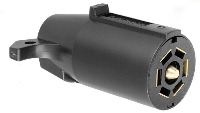 7 Way Round Rv Style Trailer Light Plug Connector