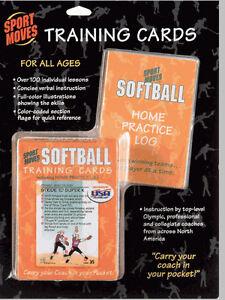 SOFTBALL-training-cards-deck-practice-coach-illustrated-teach-skills-lesson-aid