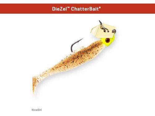 Z-Man DieZel Chatterbait 1//4 oz Jig Houdini CBD14-01 MinnowZ Swimbait Redfish