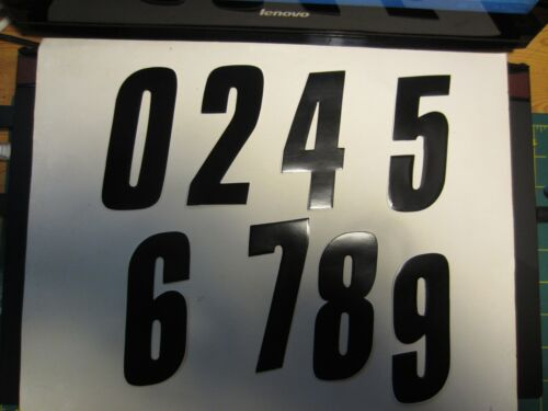 BMX MTB Road MX Tangent Number Stickers for Racing Numberplates Old School
