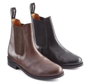 TUFFA TIPPERARY JODHPUR BOOTS NUBUCK LEATHER BLACK OR BROWN HORSE PONY RIDING