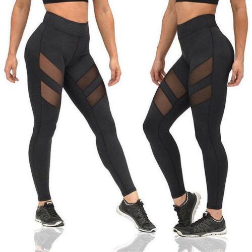 Women Sport Pants High Waist Yoga Fitness Leggings Running Scrunch Trousers 6N