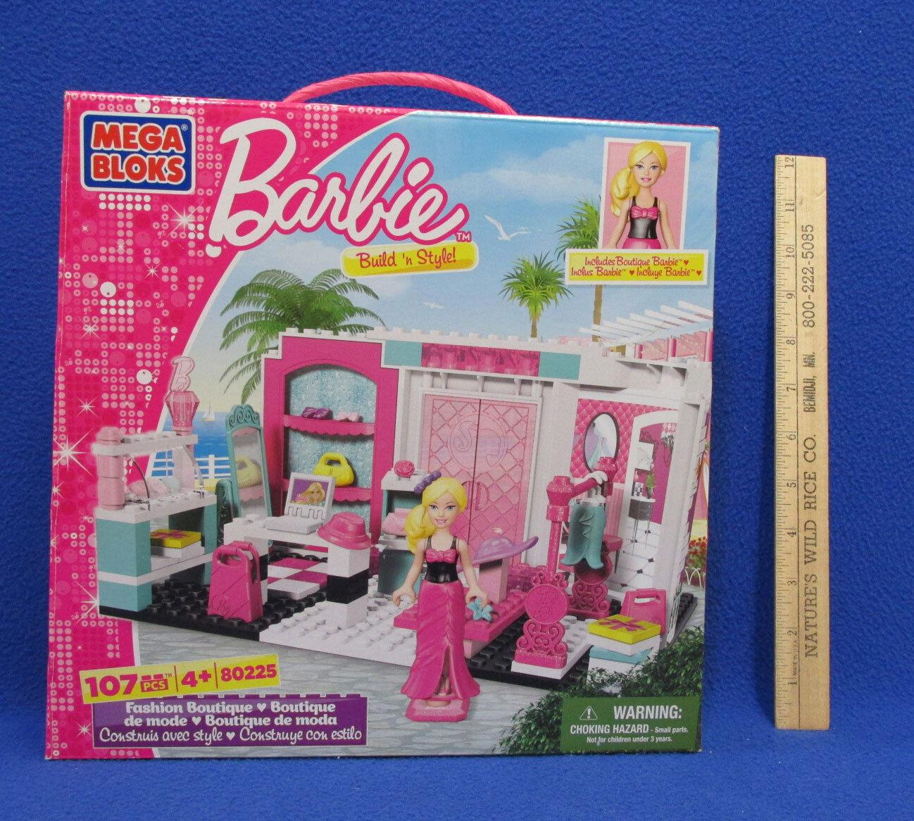 NEW Mega Bloks Barbie Build /'n Style 80225 Fashion Boutique 107 Pieces 2012