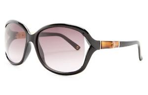 9a51d5f998734 GUCCI Bamboo Square Oval Sunglasses GG 3671 S Brown Shiny Black ...