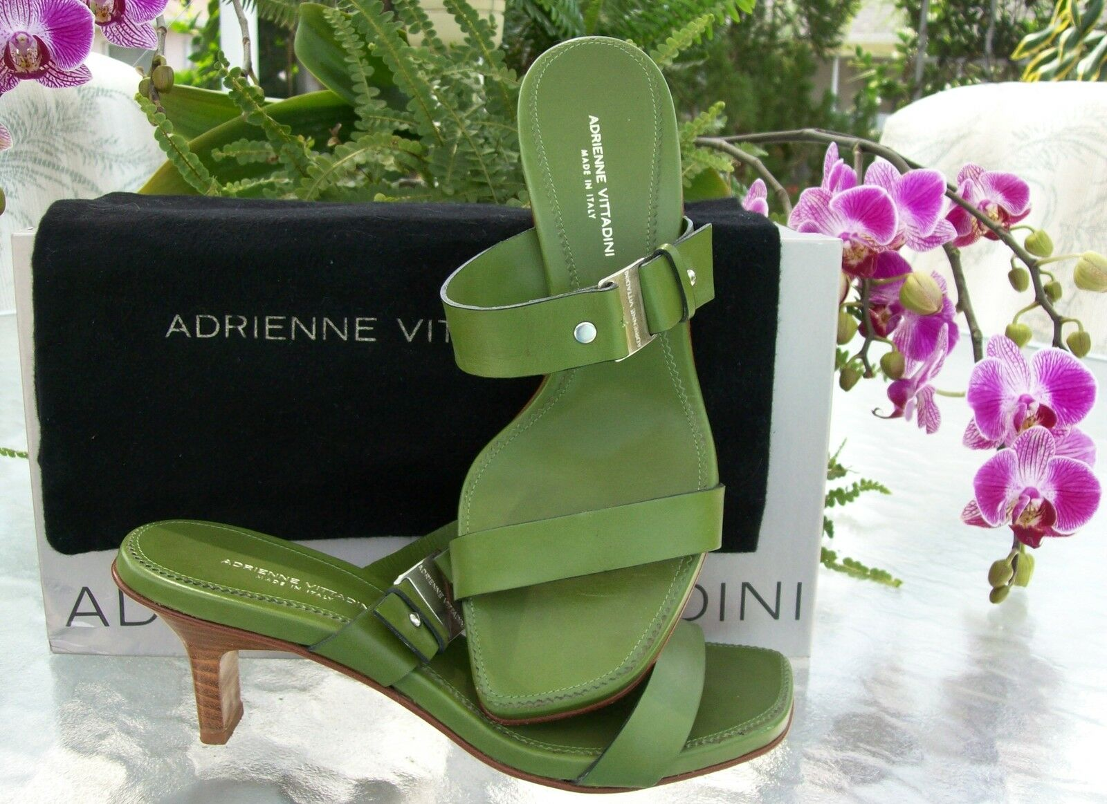 Adrienne Vittadini  Heels~LIME GREEN~