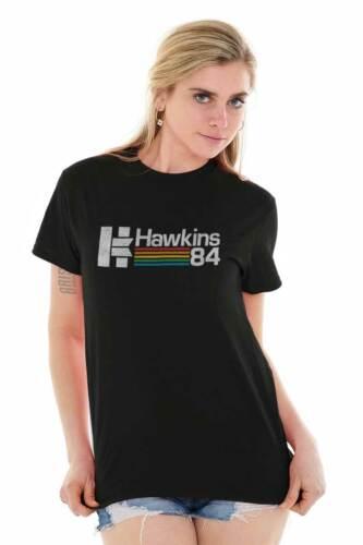 Hawkins Indiana Eleven TV Show Eighties Gift Short Sleeve T-Shirt Tees Tshirts