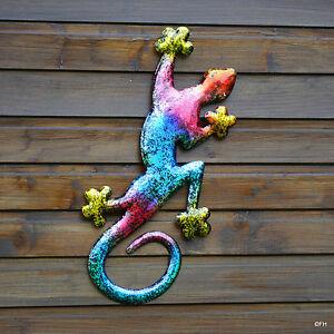 Gartenfigur gecko salamander eidechse wanddeko zaunfigur - Wanddeko eidechse ...