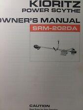 Echo Kioritz Srm 202da Gasoline Brushcutter Power Scythe Owner Amp Parts Manual