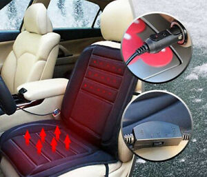 2pcs Universal 12v Car Seat Pad Cushion Cover Heating Heater Warm Heated Winter