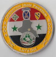 "Task Force 2-15 Mahmudiyah Iraq  Challenge Coin 2 "" DIA"