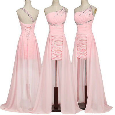 CHEAP Formal Long Pink Evening Ball Gown Party Cocktail Bridesmaid Prom Dresses