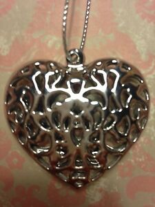 Gisela Graham Silver Metal Filigree Hanging Heart - <span itemprop=availableAtOrFrom>Heanor, United Kingdom</span> - Gisela Graham Silver Metal Filigree Hanging Heart - Heanor, United Kingdom