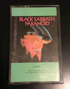 Black-Sabbath-Paranoid-CASSETTE-TAPE-First-Edition-US-RCA-Ozzy-Osbourne