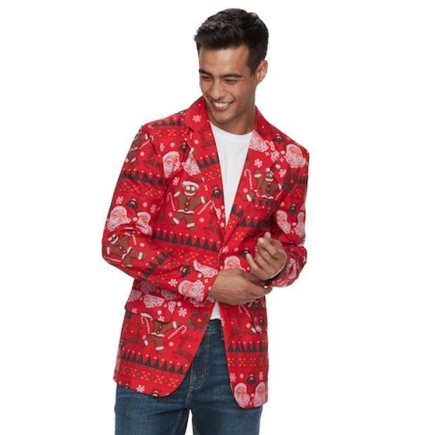 Nwt Herren Christmas Blazer Größe Wählen Rot