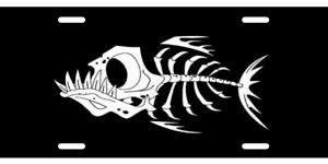 BONEFISH FISHING LICENSE PLATE  Auto Tag Sign BLACK