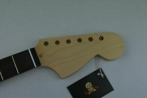 Voodoo-Vibe-Stratocaster-Strat-NECK-Maple-amp-Roseacer-w-Amber-Tint-Dot-Inlay-0bg
