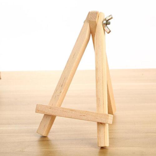 15//24cm Small Wooden Easel Stand Mini Table Desktop Art Wedding Photo Display UK