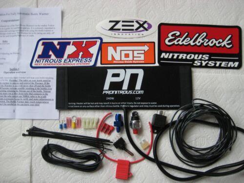 *NEW 12V-240W FULLY AUTOMATIC 2//2.5//5//10//15LB NITROUS BOTTLE HEATER KIT NOS//NX