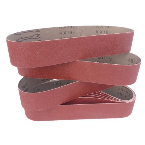 10 Schleifbänder 50 x 686mm Korn P100 Schleifband Gewebebänder Bandschleifer
