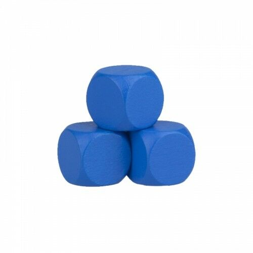 Blankowürfel - 16mm - Holz - blau -