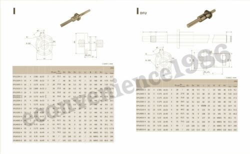 2 X SBR20-300mm Rail Support/& RM1610--300mm Ballscrew+BF12//BK12+4SBR20UU