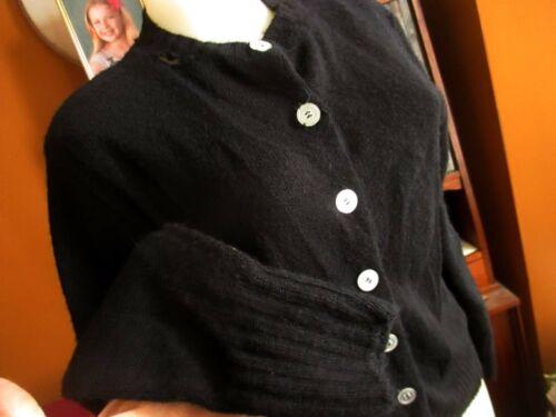 1960/'s Vintage Women/'s S Park Storyk Black Wool Crocheted Cardigan Feminine