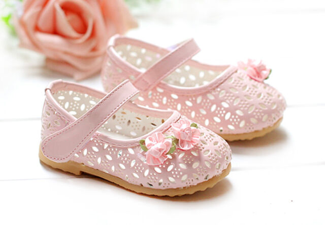New Baby Girls Pink Party Shoes 6-9 Months