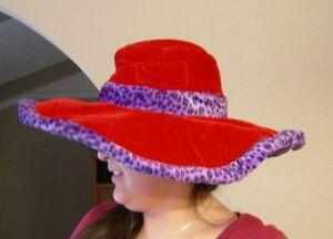 d0d7ccf00f213a Image is loading Red-Purple-Soft-hat-Large-Brim