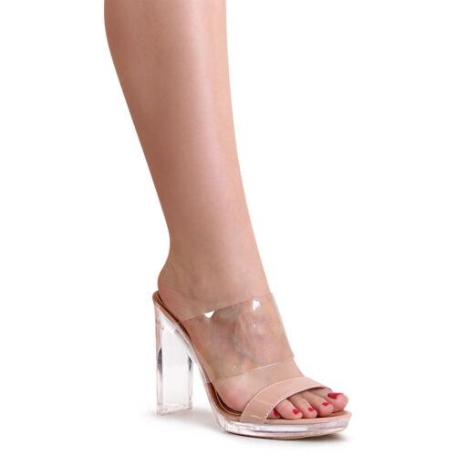 Damenschuhe Sandaletten Pantoletten Transparent Mules Sandalen Pumps Slipper
