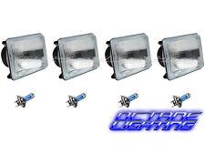 "4X6"" Halogen Semi Sealed Stock Glass H4 Headlight Headlamp Light Bulb Set 60/55W"